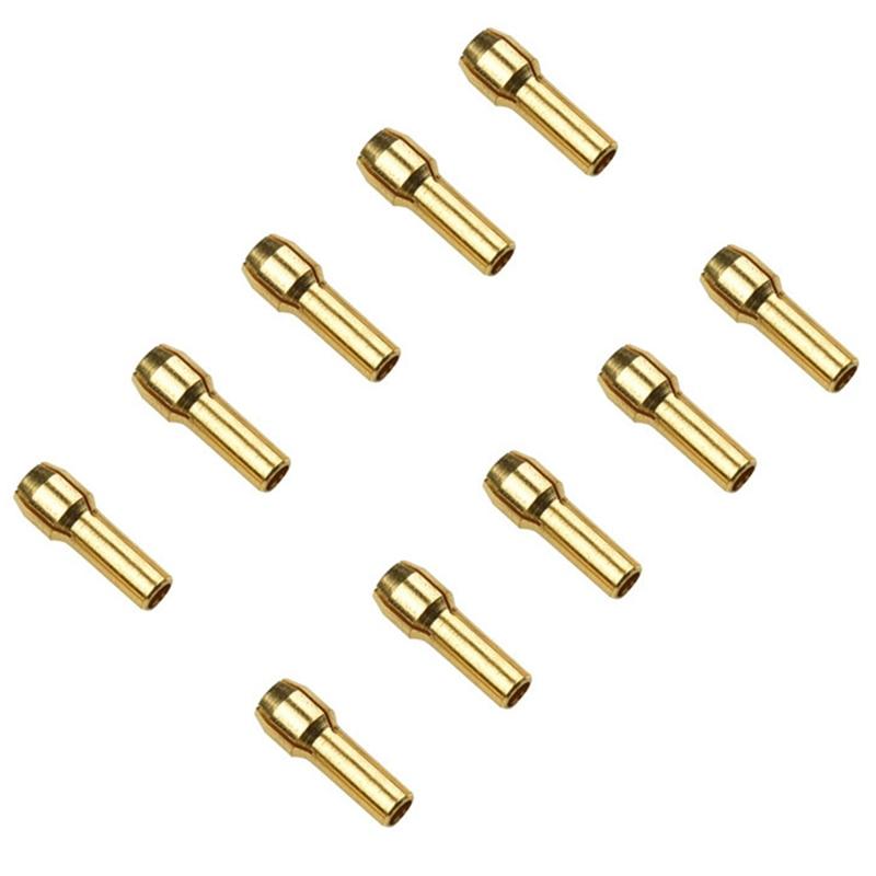 10Pcs 0.5-3.2mm Micro Twist Hand Drill Kit Chuck Electric Drill Bit Collet 4.8mm