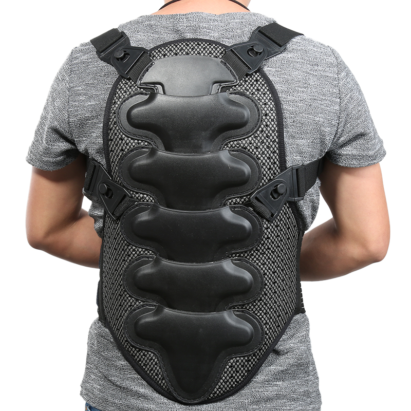 1pc Exercise Protect Body Armor Backpiece Back Protective Ski Vest Sports Removable Back Protector Body Spine Protective Armor