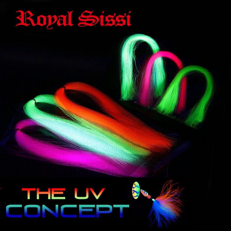 New 12packs UV hue tinsel ultraviolet Fluorescent twist &flat type tinsel assorted Trouts Bass streamer flies fly tying material hue starterkit