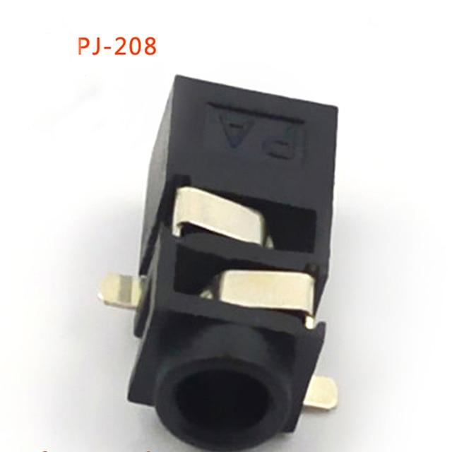 30pcs Jack 25mm Headphone Connector Plug Three Feet Patch Pj 208