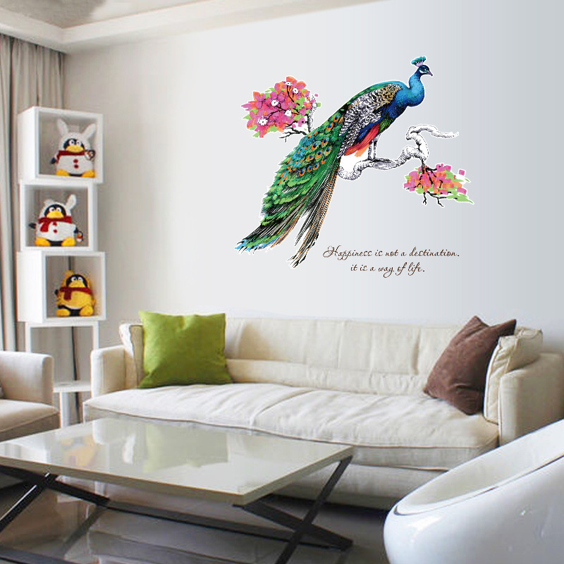 Beautiful wreath Wall Sticker Home//bedroom//living room Decoration DIY Removable