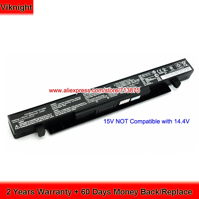 15V 2950mAh A41-X550A Original Battery For ASUS X550D X550B F550C F550VC X550 X450C X450 X550JX X550V Laptop jigu laptop battery for asus a41 x550 a41 x550a x550 x550c x550b x550v x550d x450c x452 4 cells