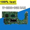 K501UB K501UX Laptop Moederbord Voor ASUS A501U K501UX moederbord K501UX Moederbord testen OK I7-6500U CPU 8G RAM 2 GB video
