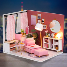 Cutebee Doll House Furniture Miniature Dollhouse DIY Room Casa Toys for Children H17-2