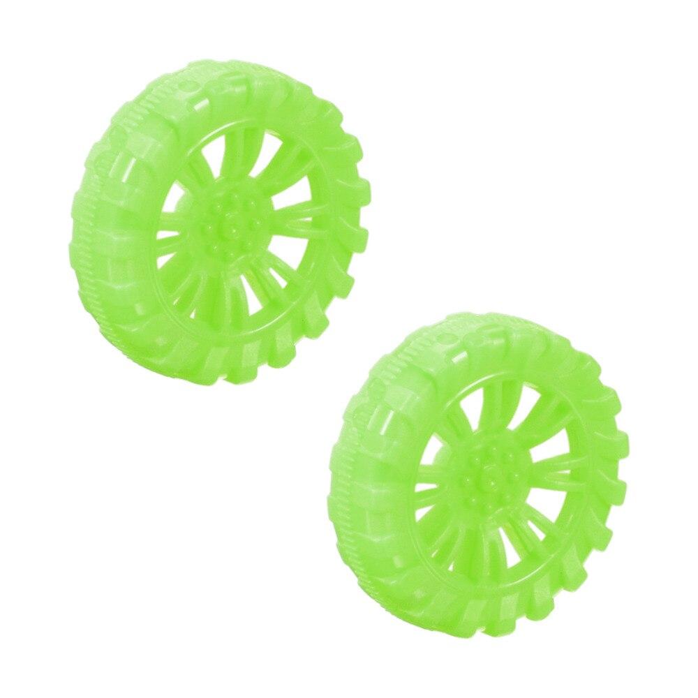 Uxcell 2 Stks 4 Kleuren Groen Blauw Geel Zwart 2mm Inner Dia Rubber Speelgoed Auto Wiel Diy Monteren Speelgoed Nieuwe Collectie Heilzaam Voor Het Sperma
