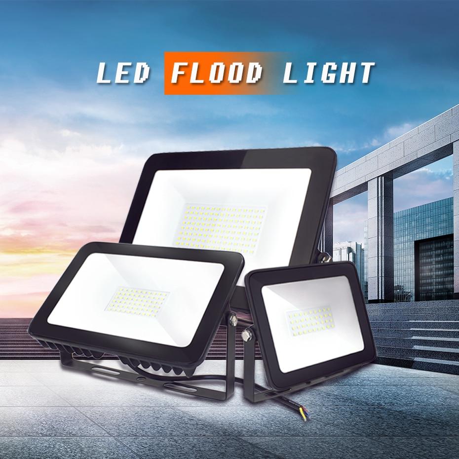 Newest LED Outdoor Lighting 15W 30W 60W 100W 150W 200W Led Flood Light 170-260V Waterproof IP65 Refletor LED Floodlight caterham 7 csr