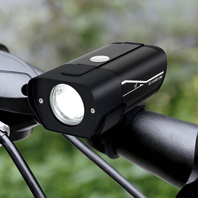 FTW Bike Light Rechargeable Bicycle Front Lamp LED Handlebar Flashlight 350 Lumen