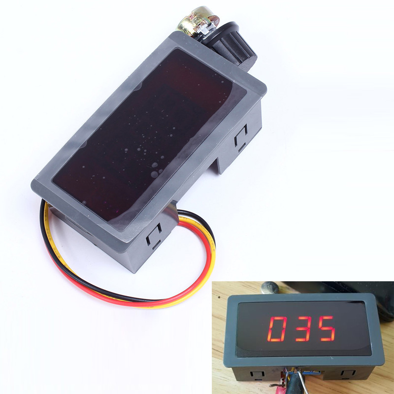 Pwm dc motor speed control regulator led digital display for Variable speed control electric motor