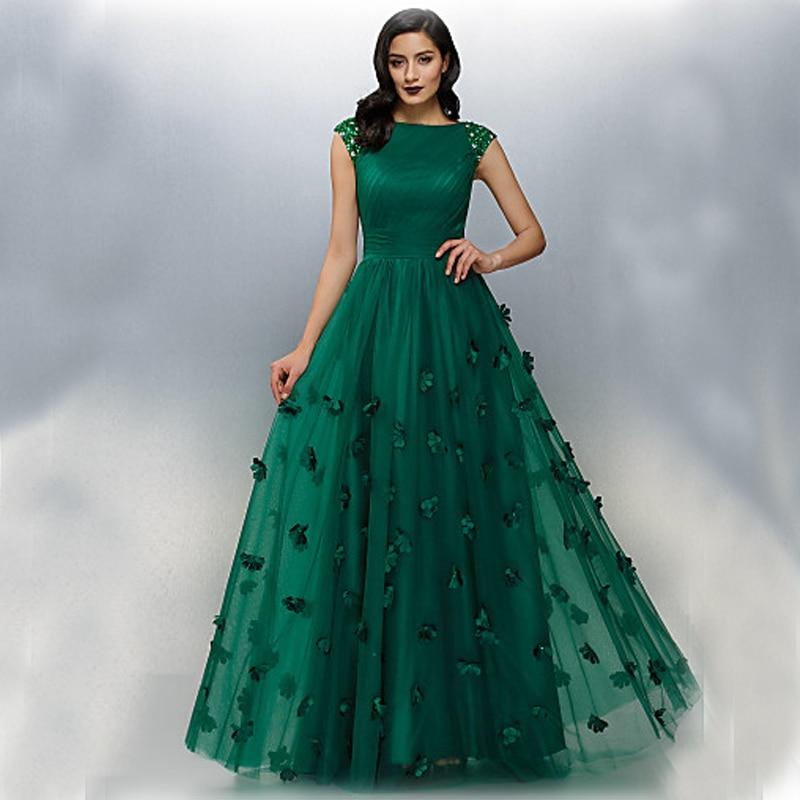 new elegant dark green sexy long evening dresses 2017