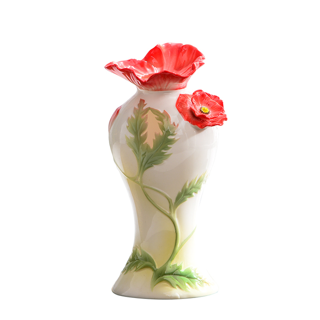 Yolife Chinese Porcelain Enamel Ceramic Flower Vase Fancy Style Design Home  Pots For Decoration Artistic Exquisite