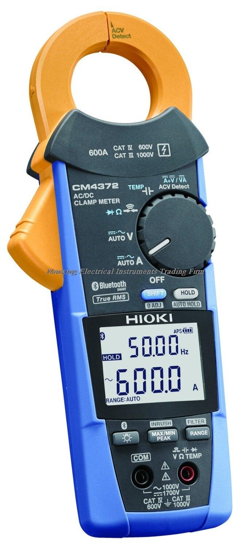 Pince-mètre HIOKI CM4372 600A AC/DC à arrivée rapide avec technologie sans fil Bluetooth intégrée True RMS 600 A pince-mètre AC/DC