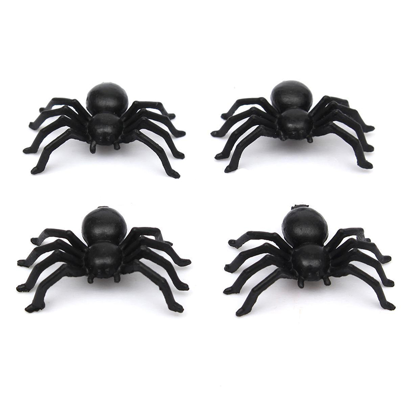50pcs 2cm plastic black spider halloween decoration festival supplies funning toys decoration realistic propchina - Spider Halloween Decorations