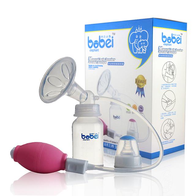 Extractores de leche manual bobei elephant brand fácil control de la bomba de succión del pezón pp fuerte atracción biberón 120 ml