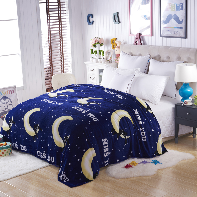 WholeSale Sleep Wish Plaids and Bedspreads to Sofa Travel Throw Blanket Fleece Bedding Throws on Sofa / Bed / Car Portable Plaids