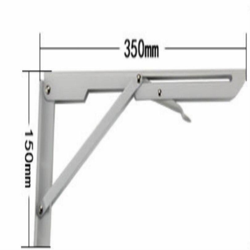 Сделай Сам, стальная стойка для журнального столика, кронштейн для журнального столика, держатель для кафе, длина 25 см, 30 см, 35 см, 40 см, поддержка 80 кг - Цвет: L 35CM