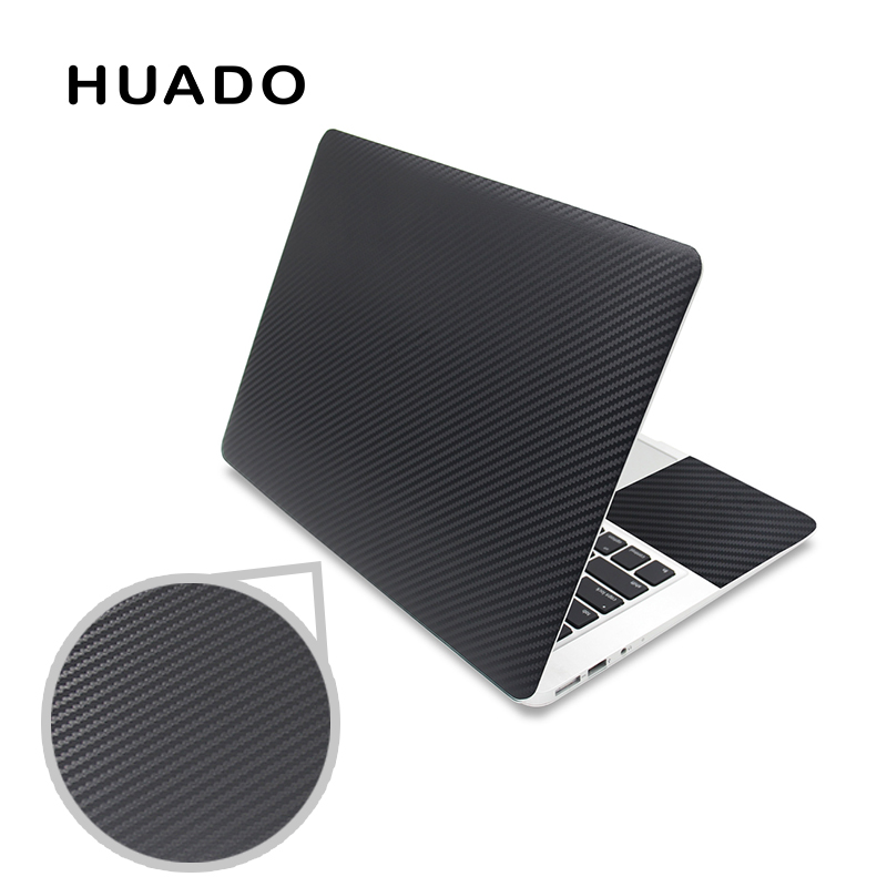 Black 3D Carbon Fibre Laptop Skin Sticker 15.6 Vinyl Stickers For Notebook 17