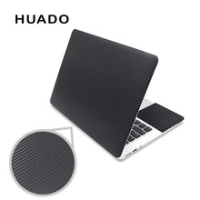 "Black 3D carbon fibre laptop skin sticker 15.6 vinyl stickers for notebook 17""15""14""13"" decals for mac air 13.3/mi pro/asus/hp(China)"