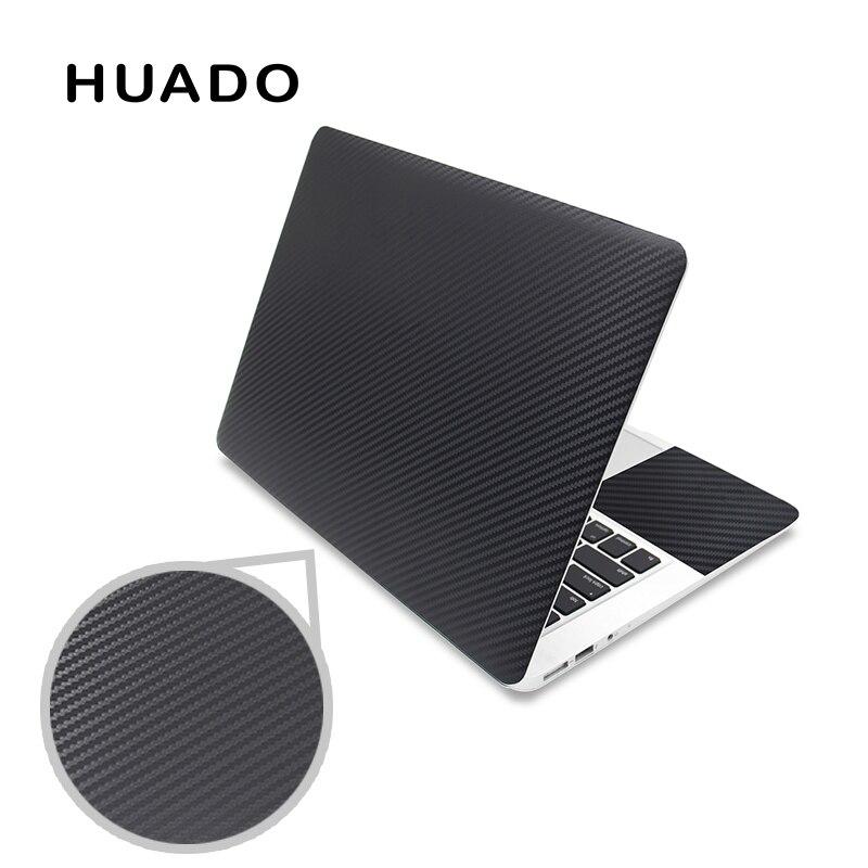 Noir 3D en fibre de carbone housse pour ordinateur portable autocollant 15.6 vinyle autocollants pour ordinateur portable 17