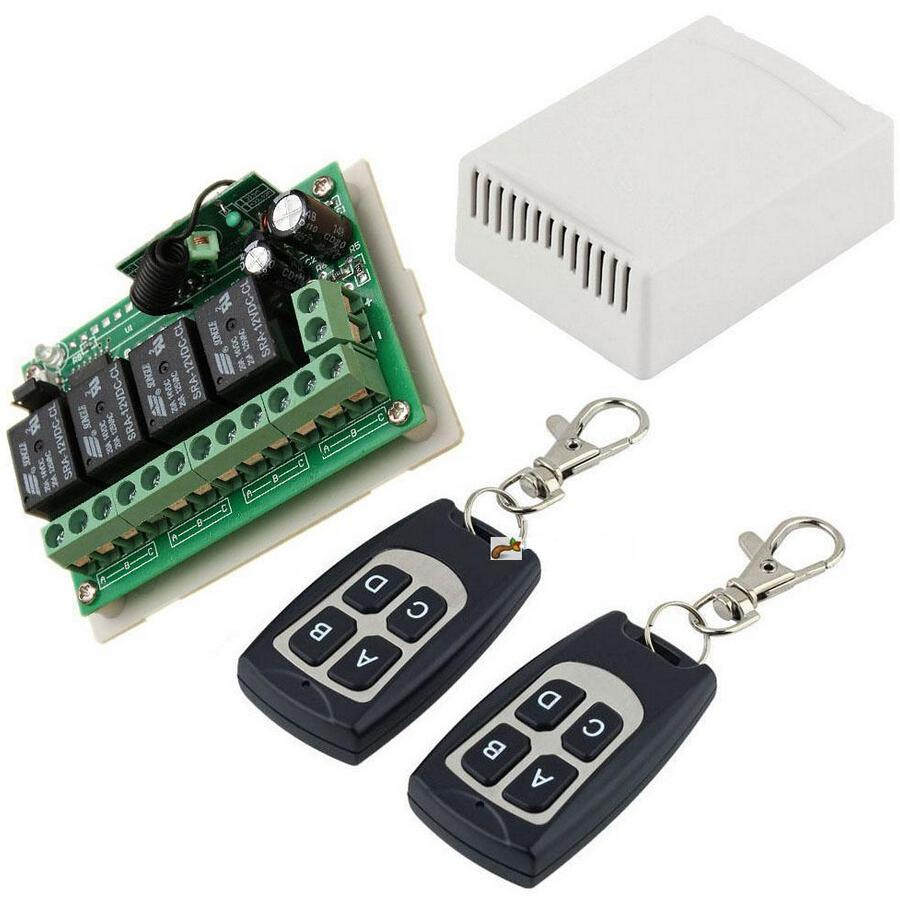 US $9 45 |12V 4CH Channel 315Mhz Wireless Remote Control Switch With 2  Transimitter-in Switches from Lights & Lighting on Aliexpress com | Alibaba
