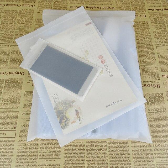 100pcs Lot Matte Clear Plastic Ziplock Storage Bags Self Seal Reusable Zip Lock Package Bag