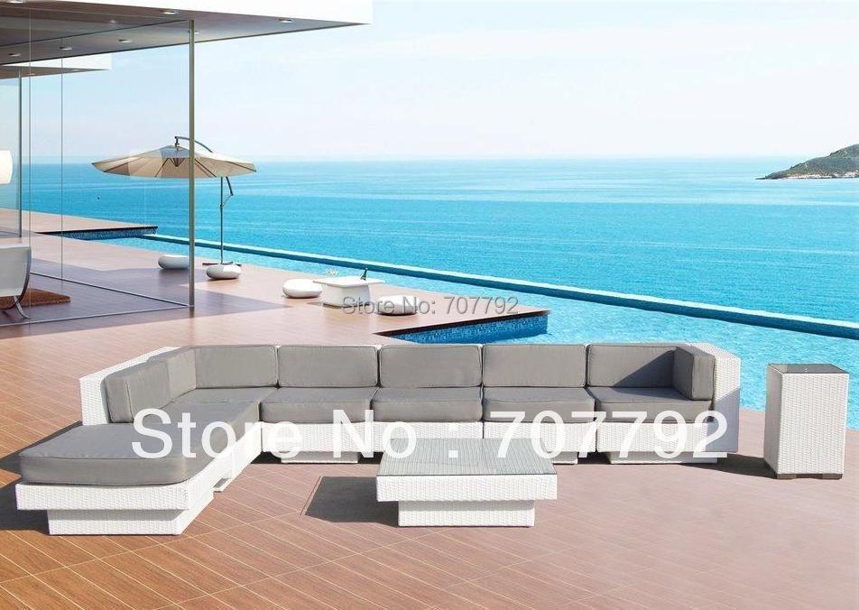 newport beach luxury euro modern sectional sofa wicker patio furniture