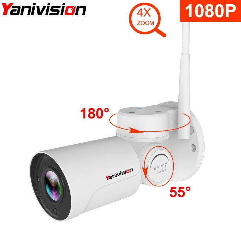 1080 p IP PTZ Bullet Caméra Full HD 4X Optique Zoom IP66 Étanche de Vision Nocturne Caméra IP Mini Extérieure WIFI PTZ P2P Surveillance