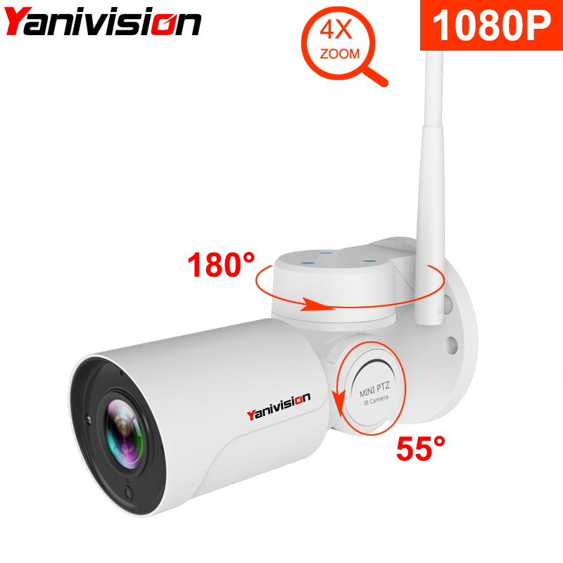 1080 p IP PTZ Kugel Kamera Volle HD 4X Optische Zoom IP66 Wasserdichte Nachtsicht IP Kamera Mini Outdoor WIFI PTZ P2P Überwachung