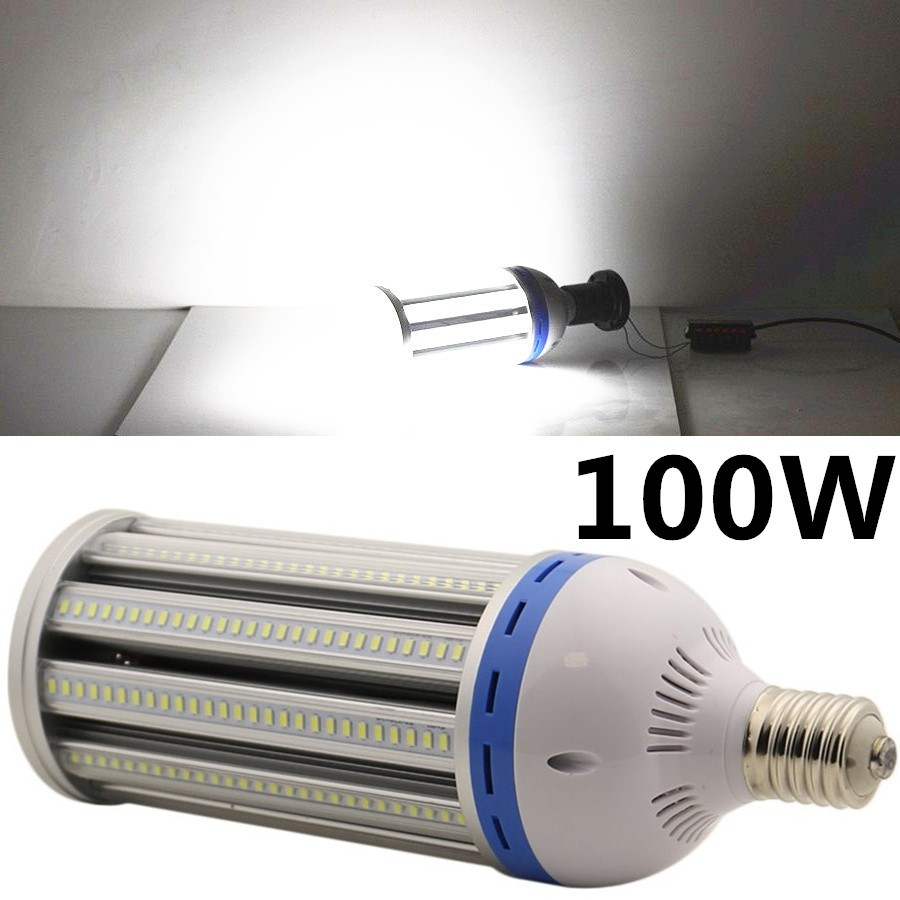 100W LED Corn Light E40 SMD5730 AC85-265V Transparent Cover Industrial Lamp Corn Lighting 10pcs/Lot Top Quality Factory Price