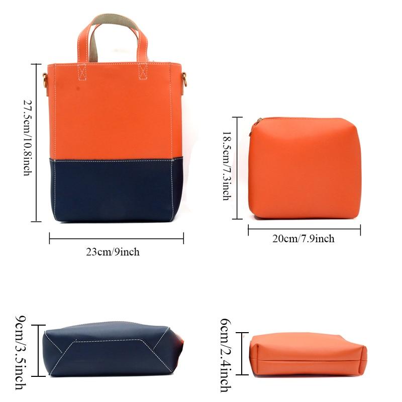 BONAMIE luxury Brand Patchwork Women Handbags Female Fashion Composite Bags Casual Soft Leather Shoulder Bag Lady Crossbody Bags