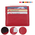 Slim leather multi-card-bit pack bag men Wallet Business Card Holder bank cardholder leather cow pickup package bus card holder
