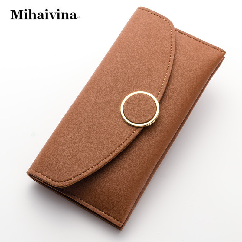 Fashion Women Wallet Credit Card Holder Long Purse Casual Envelope Clutch Lady Wallets PU Leather Coin Zipper Feminina Carteira  new arrive 1pc women lady faux leather clutch envelope wallet long card holder purse hollow hot