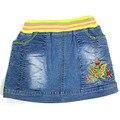 Niña Adolescente por arrodillarse bebé falda de jean de Mezclilla de moda de tela flor de mariposa diseño niños bordado ZQNS2