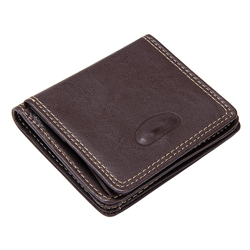 Slim Men's Short Wallet With Coin Pocket Vintage Luxury Designer Business Credit Card Case Male Bifold Purse Small Money Bags