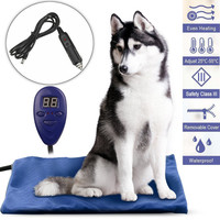 12V Pet Heat Mat 30x40cm Car Charging Electric Waterproof Warming Pad Thermal Protection Dog With Car Adaptor