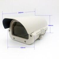 6 인치 CCTV 카메라 상자 투명 유리 렌즈 컷 아웃 빛 kamera 하우징 야외 방수 알루미늄 합금 커버