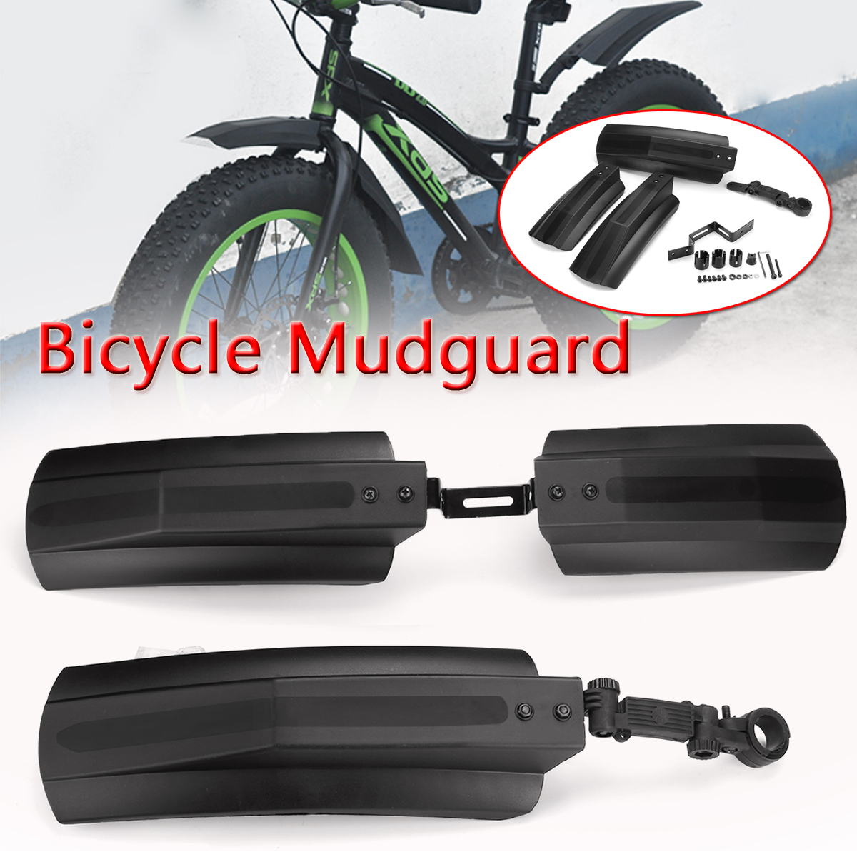 Cycling Bike Fender Parts Bicycle Mudguard MTB Mountain 20-26 Inch Bike Mud Wings Front Rear Wheel Fender