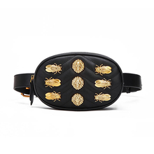 Fashion belt bag insect waist Pack bag women luxury brand pu leather chest bag designer black fanny Packs bag for women sac main
