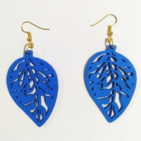 Fashion Hollow Carving wood Love Leaves Drop Earrings Handmade  Earrings Personality Laser Cut eco Wooden Jewelry