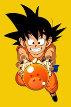 Scroll fabric poster living room home wall decoration goku dragon ball z anime lovely memory
