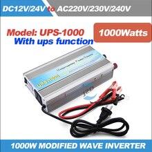 UPS-1000 полная мощность 1 кВт/1000 Вт UPS инвертор с зарядным устройством модифицированный синусоидальный инвертор с зарядным устройством