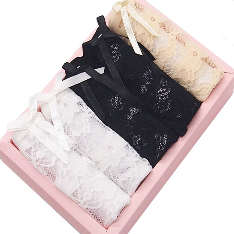 5pcs/Lot Women's Panties Transparent Underwear Women Lace Soft Briefs Sexy Lingerie low Waist