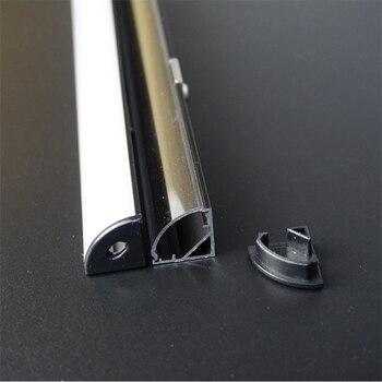 5-30 unids/lote 40 pulgadas 1m 45 grados V esquina perfil de aluminio anodizado negro, carcasa de luz de tira lineal para pcb de 12mm