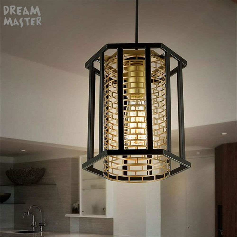 Nordic Country style Loft Lamp Iron America chandeliers Art Drop light For Bar Cafe Study Warehouse lustre decoration lighting classic candlestick hollow iron art lamp for romantic wedding home decoration