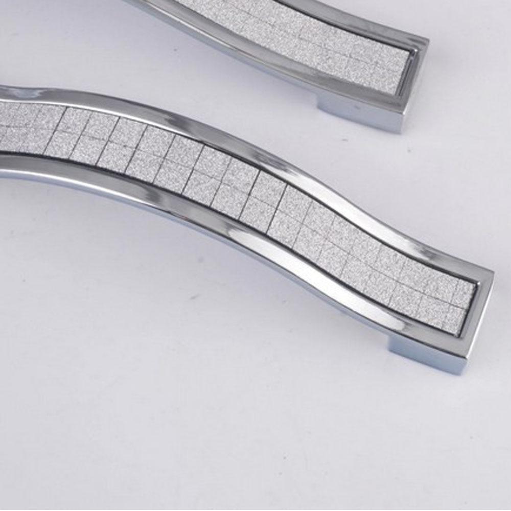 2x160mm Moderne Schublade Griffe Schrank Einfache Kristall Griff ...