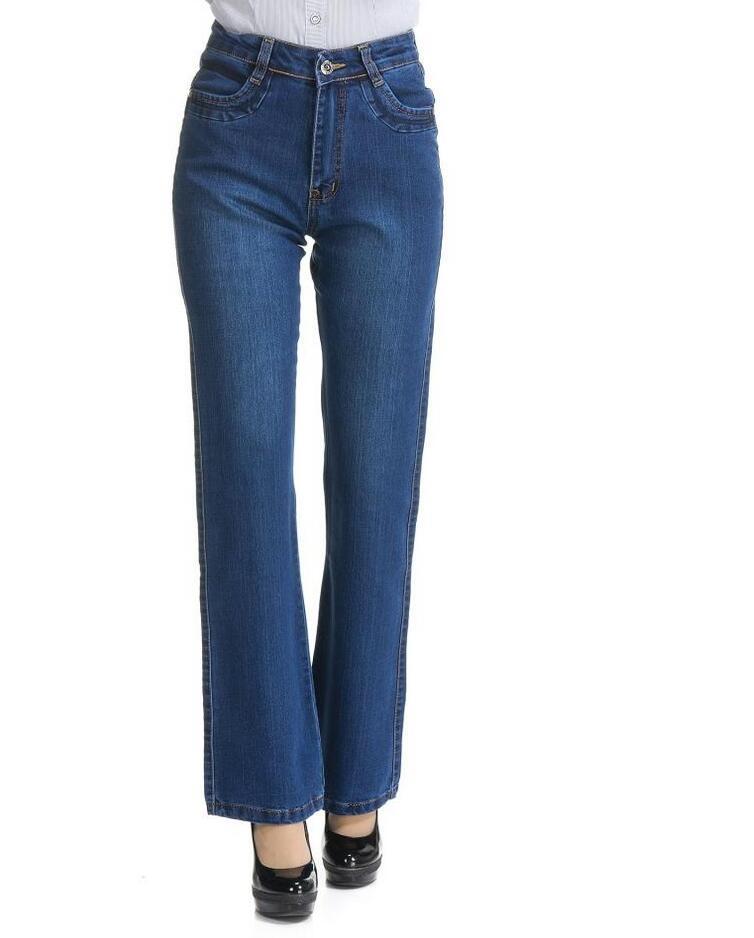 18 High Waist Jeans Women casual Bell Bottom Jeans Female Slim Elastic Flare Pants women denim pants Plus Size 7XL S733 3