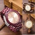 2016 New UWOOD UW1001 Fashion Unique Wood Wristwatch Men's Japan Movement Quartz Watch Classic Folding Clasp with Wooden Band