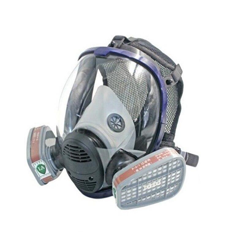 6800 Masque à gaz avec No 3 Filtres à Cartouche Respirateur Masques Respirateurs pour Peinture Spray Antibuée Industrielle Seguridad Masque