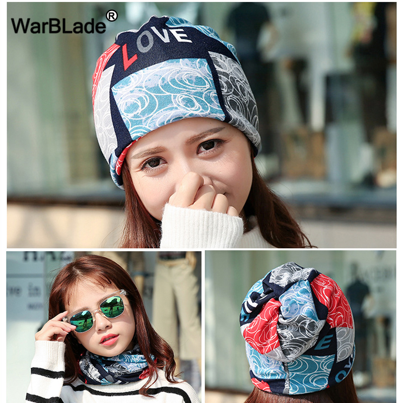 WarBLade Fashion Polyester Women Hat Casual 3 Use Caps Scarf   Skullies     Beanies   Women's Spring Autumn Bonnet Knitted Hats