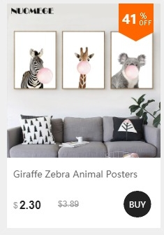 NUOMEGE Baby Animal Poster Panda Giraffe Elephant Canvas Painting Nursery Wall Art Nordic Picture Kid's Bedroom Decoration