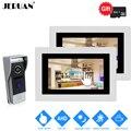 JERUAN 720P AHD Обнаружение движения 7 ''сенсорный экран видео домофон система 2 запись монитор + 1.0MP HD 110 градусов камера